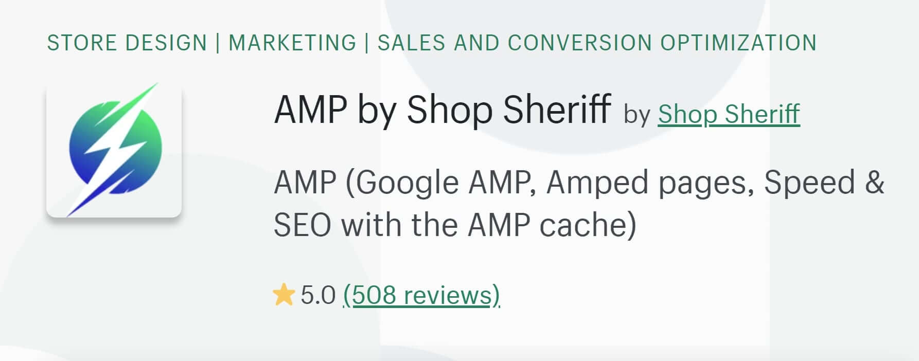 Shop Sheriff Shopify AMP App