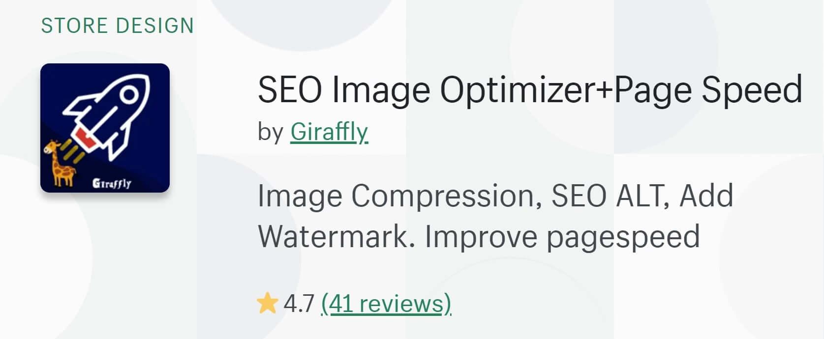 Girrafly Shopify Site Speed App